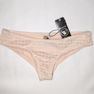 Wildfox Crochet Bottoms Hipster  Light Pink Small